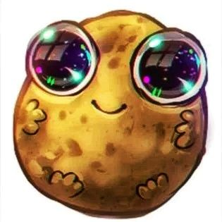 glorious potato looking all cute