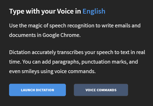 dictation.io speech recognition software